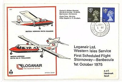 BG290 1975 GB SCOTS ISLANDS Isle of Benbecula LOGANAIR FFC Machin Regional Cover
