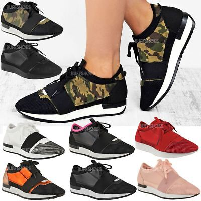 Womens Ladies Sneakers Bali Trainer Runner Stretch Band Gym Comfy Size