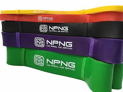 Resistance Loop Bands Exercise Power Crossfit Fitness Training + FREE Shipping!
