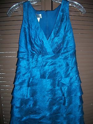 formal dress mother of the bride size 6 blue green