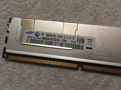 Samsung 8gb 2Rx4 PC3L - 10600R - 09 - 10 - E1 - D2 1333MHZ ECC Server Ram DDR3