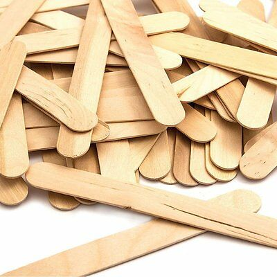 1000pcs Natural Wood Flat Lollipop Sticks Craft Lollies Ice Pops Popsicle Models