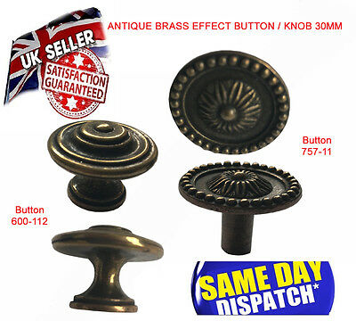 Solid Brass Knobs Furniture Old Effect Knob For Cupboard Door Drawers Wardrobe