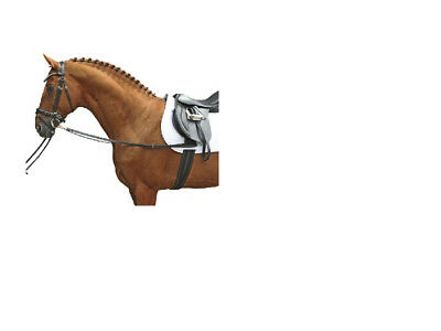 HKM German Leather Side-Reins Pony, Cob/Full Black FREE DELIVERY