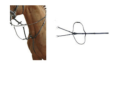 HKM German Leather Running Martingale Pony/Cob Full Black FREE DELIVERY