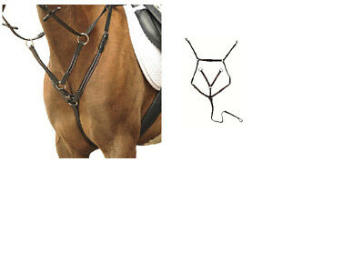 German Leather Breastplate + Martingale Black & Brown,All Sizes FREE DELIVERY