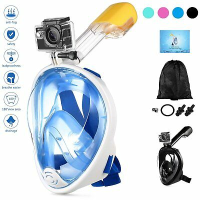 Full Face Snorkeling Mask Scuba Diving Swimming Tool Snorkel for Gopro