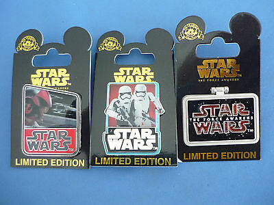 STAR WARS  Disney Pin LOT of 3 Pins  LIMITED EDITION New on card