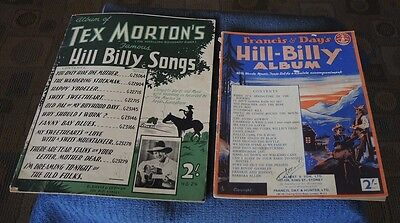 1930s TEX MORTON'S FAMOUS HILL BILLY SONGS + FRANCIS & DAY'S HILL-BILLY ALBUM #2