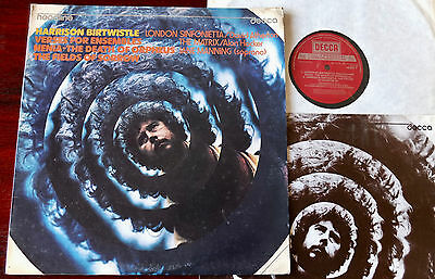 Decca Head 7 Birtwistle Verses For Ensembles Lp Atherton (1974) Nenia England