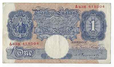 Bank of England 1 Pound VF Note