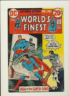World's Finest #215 DC Comics 1973! 1st App Super-Sons! SEE PICS AND SCANS! WOW!