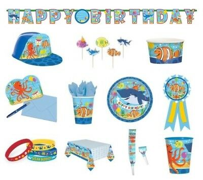 OCEAN BUDDIES Birthday PARTY NEW Tableware Balloons Decorations Supplies / SEA
