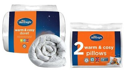 Silentnight Warm And Cosy 10.5 Tog Double Duvet With Ultrabounce 2 Pillows Set