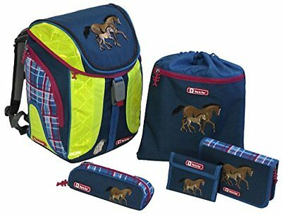 Step by Step Flexline DIN Schoolbag Set, 5 Piece Horse Family Horse Family