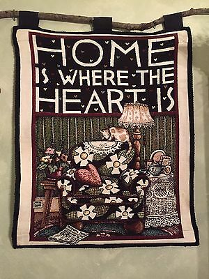 Mary Engelbreit Home Is Where The Heart Is Tapestry Wall Art