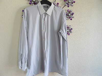 "Vintage  Nylon Mens    Shirt  Grey Lurex   Size Pit To Pit  25"" Needs Cuff Links"