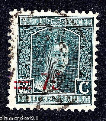 1916 Luxembourg 62.5 Green OPTD 75 SG 217 FINE USED R24261