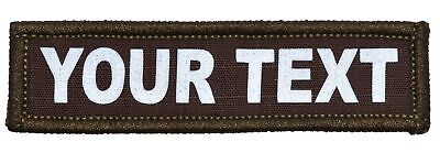 Custom Text Reflective Patch - Multiple Sizes Military/Morale Patch Hook Backing