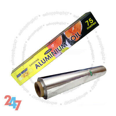 Aluminium Kitchen Catering Foil Tin Food GRADE Baking Oven Wrap 300mm X 75m S247