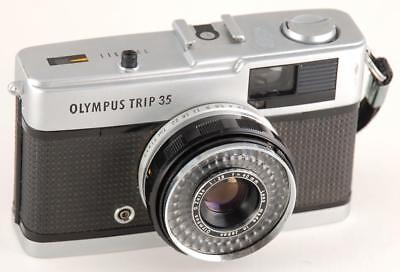 Old Photo.  Close-up of Olympus Trip 35 camera