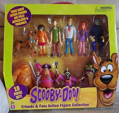 Scooby-Doo! Friends and Foes Action Figure Collection Pack - 10 Piece Brand-new