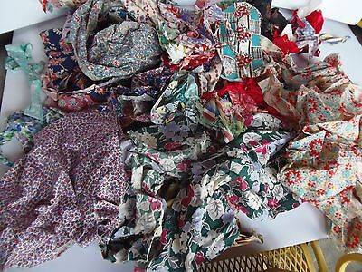 Vintage Antique Quilt scraps Feed Sack Cotton CRAFTING Selling Pile
