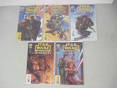Complete Set Of Star Wars Tales Of The Jedi Redemption #1-5 Limited Series