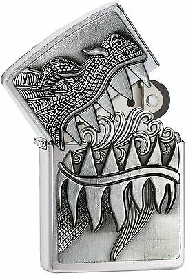 Zippo 28969, Dragon, Surprise Lighter, Brushed Chrome Lighter, ***Flints/Wick***