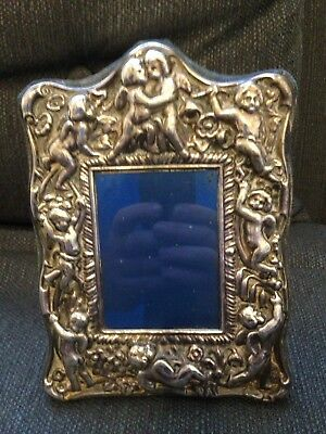 Vintage Cherubs Putti Silver Frame Photo Holder