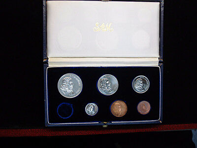 1966 SOUTH AFRICA PROOF COIN SET 6 of 7 COINS - SILVER 1 RAND INCLUDED -ORIGINAL