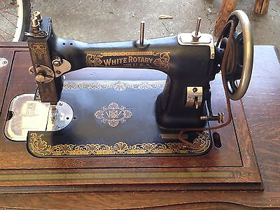 Antique White Rotary Sewing Machine with Cabinet Local Pickup Only