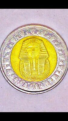 Original Antique Ancient Egyptian Pound Coin (King Tutankhamun Version)