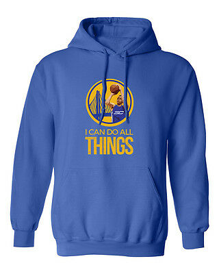 """Stephen Curry """"I Can Do All Things"""" Golden State Mens & Youth Hooded Sweatshirt"""