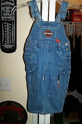 Harley Davidson - Kids 2 T Bib Overalls - Very Good Shape