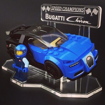 Display Stand For LEGO Speed Champions: Bugatti Chiron (75878)
