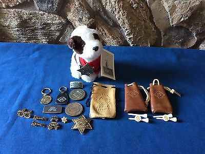 Vintage Wells Fargo Bank cuff links,tie clips, Badges Giveaways Lot- Stagecoach