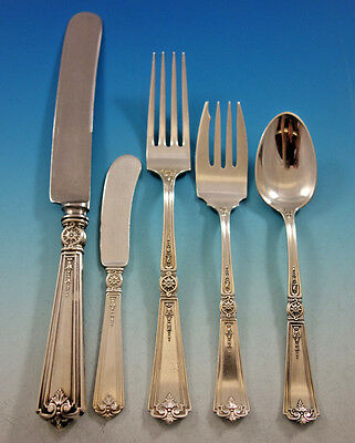 Victorian by Durgin Sterling Silver Flatware Set for 8 Service 50 pieces