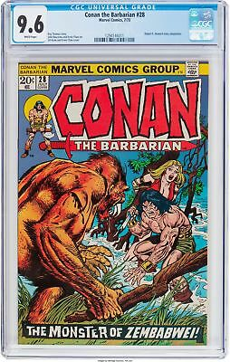 Conan the Barbarian #28 (Marvel, 1973) CGC NM+ 9.6 White Pages