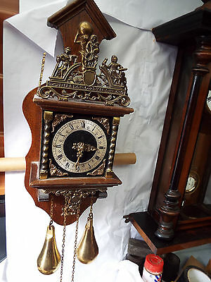 Dutch Weighted Wall Clock Spares Or Repair