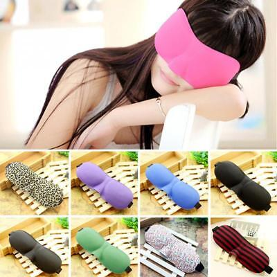 3D Eye Mask Soft Sponge Padded Travel Sleeping Blindfold Sleep Aid LIGHTWEIGT