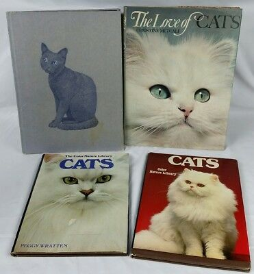Cat Books Lot of 4 The Love of cats Photos and  color library