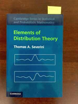 Elements of Distribution Theory (Cambridge Series in Statistical and Probabilist