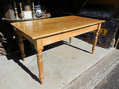 Fully restored Colonial pine farmhouse table = Professional restoration