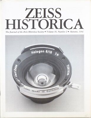 Zeiss Historica Autumn 1994 (Magazine Zeiss Historical Society)