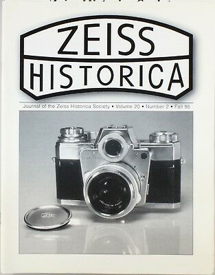 Zeiss Historica Fall 1998 (Magazine Zeiss Historical Society)