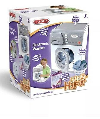 New Casdon Kids Toy Pretend Play Electronic Washer