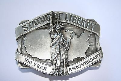 Siskiyou Limited Edition Pewter Statue Of Liberty 100Yr Anniversary Buckle