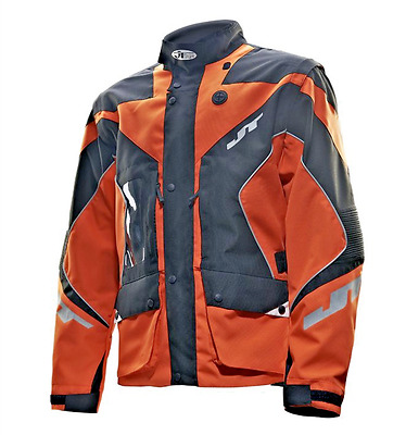 JT Racing Enduro Dual Textile Motorcycle Jacket Orange/Black Men's Medium