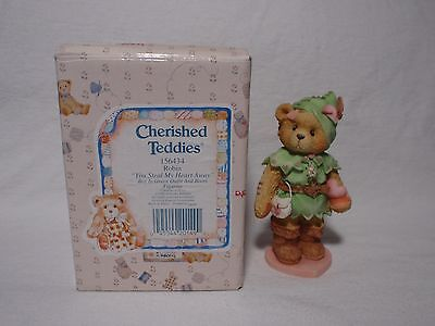"1995 Cherished Teddies Robin ""You Steal My Heart Away"" Figurine 156434 Enesco"